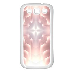 Neonite Abstract Pattern Neon Glow Background Samsung Galaxy S3 Back Case (White)