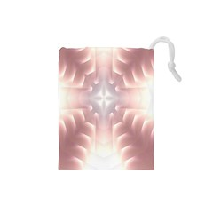 Neonite Abstract Pattern Neon Glow Background Drawstring Pouches (small)