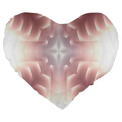 Neonite Abstract Pattern Neon Glow Background Large 19  Premium Flano Heart Shape Cushions