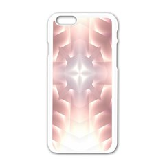 Neonite Abstract Pattern Neon Glow Background Apple Iphone 6/6s White Enamel Case