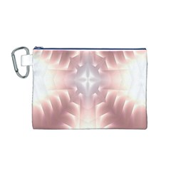 Neonite Abstract Pattern Neon Glow Background Canvas Cosmetic Bag (m)