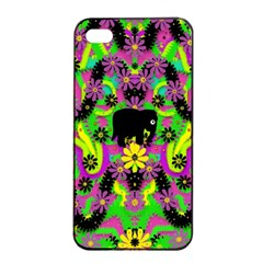 Jungle life and apples Apple iPhone 4/4s Seamless Case (Black)