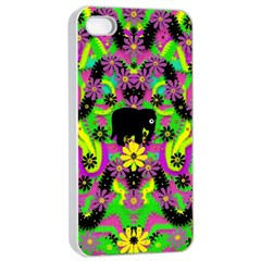 Jungle life and apples Apple iPhone 4/4s Seamless Case (White)