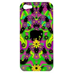 Jungle life and apples Apple iPhone 5 Hardshell Case