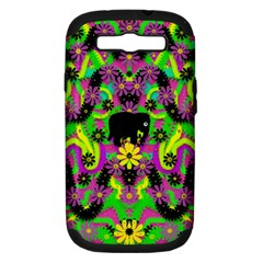 Jungle life and apples Samsung Galaxy S III Hardshell Case (PC+Silicone)