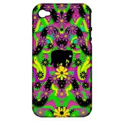 Jungle life and apples Apple iPhone 4/4S Hardshell Case (PC+Silicone)