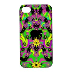 Jungle life and apples Apple iPhone 4/4S Hardshell Case with Stand