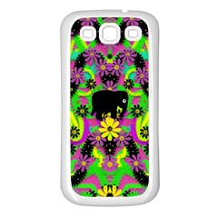 Jungle life and apples Samsung Galaxy S3 Back Case (White)