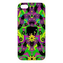 Jungle life and apples iPhone 5S/ SE Premium Hardshell Case
