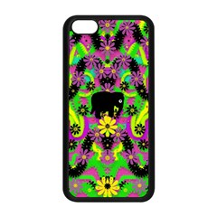 Jungle life and apples Apple iPhone 5C Seamless Case (Black)