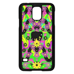 Jungle life and apples Samsung Galaxy S5 Case (Black)