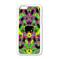 Jungle life and apples Apple iPhone 6/6S White Enamel Case