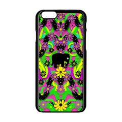 Jungle life and apples Apple iPhone 6/6S Black Enamel Case