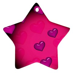 Pink Hearth Background Wallpaper Texture Ornament (star)