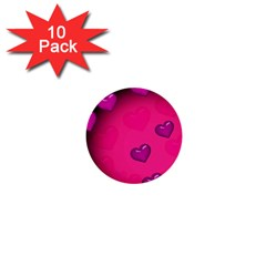 Pink Hearth Background Wallpaper Texture 1  Mini Buttons (10 pack)
