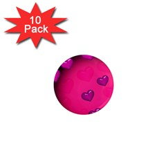 Pink Hearth Background Wallpaper Texture 1  Mini Magnet (10 pack)