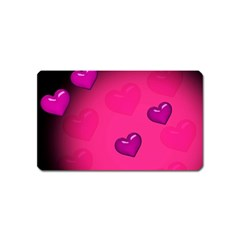 Pink Hearth Background Wallpaper Texture Magnet (Name Card)