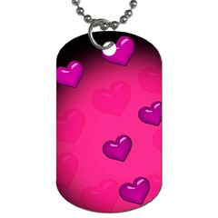 Pink Hearth Background Wallpaper Texture Dog Tag (Two Sides)