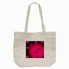 Pink Hearth Background Wallpaper Texture Tote Bag (cream)