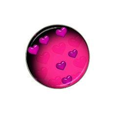 Pink Hearth Background Wallpaper Texture Hat Clip Ball Marker (4 pack)