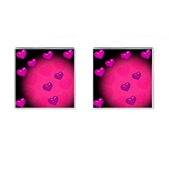 Pink Hearth Background Wallpaper Texture Cufflinks (Square)