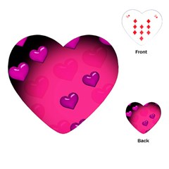 Pink Hearth Background Wallpaper Texture Playing Cards (Heart)