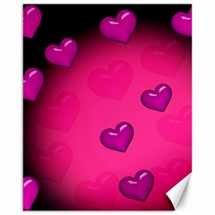 Pink Hearth Background Wallpaper Texture Canvas 16  x 20