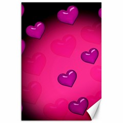 Pink Hearth Background Wallpaper Texture Canvas 20  x 30