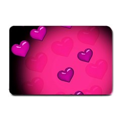 Pink Hearth Background Wallpaper Texture Small Doormat