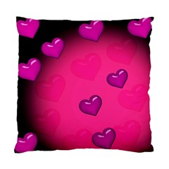 Pink Hearth Background Wallpaper Texture Standard Cushion Case (one Side)