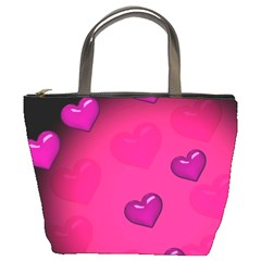 Pink Hearth Background Wallpaper Texture Bucket Bags