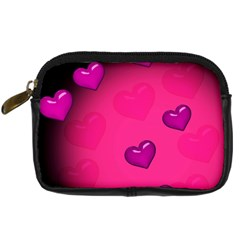 Pink Hearth Background Wallpaper Texture Digital Camera Cases