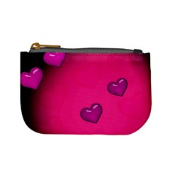 Pink Hearth Background Wallpaper Texture Mini Coin Purses