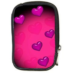 Pink Hearth Background Wallpaper Texture Compact Camera Cases