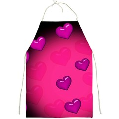 Pink Hearth Background Wallpaper Texture Full Print Aprons