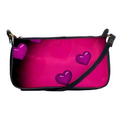 Pink Hearth Background Wallpaper Texture Shoulder Clutch Bags