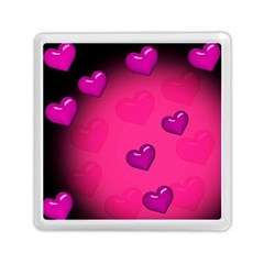 Pink Hearth Background Wallpaper Texture Memory Card Reader (Square)