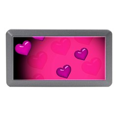 Pink Hearth Background Wallpaper Texture Memory Card Reader (mini)