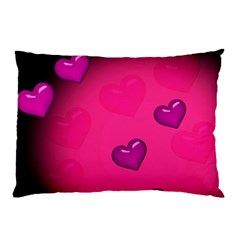 Pink Hearth Background Wallpaper Texture Pillow Case (Two Sides)