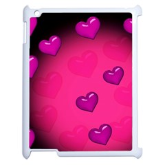 Pink Hearth Background Wallpaper Texture Apple iPad 2 Case (White)