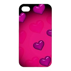 Pink Hearth Background Wallpaper Texture Apple Iphone 4/4s Hardshell Case