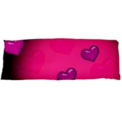 Pink Hearth Background Wallpaper Texture Body Pillow Case Dakimakura (Two Sides)