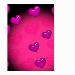 Pink Hearth Background Wallpaper Texture Small Garden Flag (Two Sides)