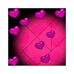 Pink Hearth Background Wallpaper Texture Acrylic Tangram Puzzle (6  x 6 )