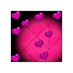 Pink Hearth Background Wallpaper Texture Acrylic Tangram Puzzle (4  x 4 )