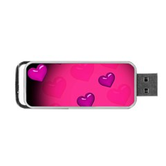 Pink Hearth Background Wallpaper Texture Portable Usb Flash (two Sides)
