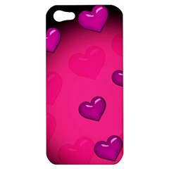 Pink Hearth Background Wallpaper Texture Apple Iphone 5 Hardshell Case