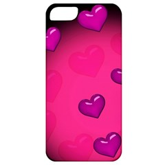 Pink Hearth Background Wallpaper Texture Apple Iphone 5 Classic Hardshell Case