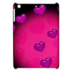 Pink Hearth Background Wallpaper Texture Apple iPad Mini Hardshell Case
