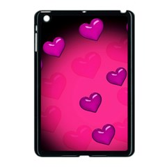 Pink Hearth Background Wallpaper Texture Apple iPad Mini Case (Black)